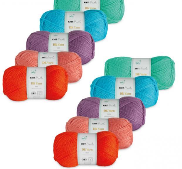 Worcester News: Brights Double Knit Yarn Bundle. (Aldi)