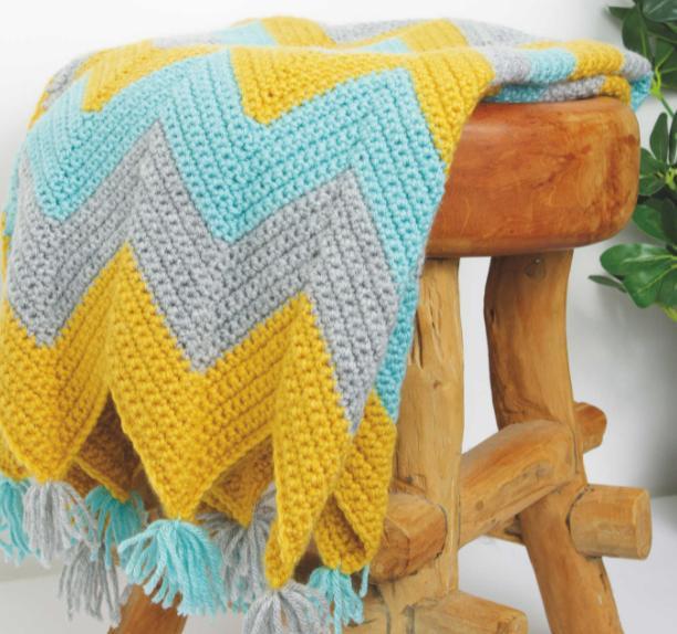 Worcester News: So Crafty Crochet Blanket Kit. (Aldi)