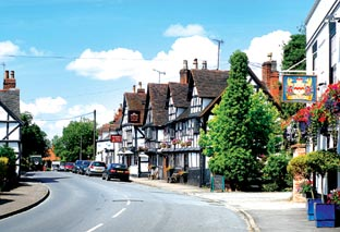 PRETTY AS A PICTURE: Ombersley High Street. 26029301