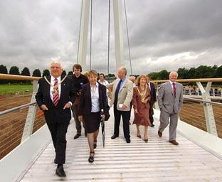 Diglis Bridge has its official opening