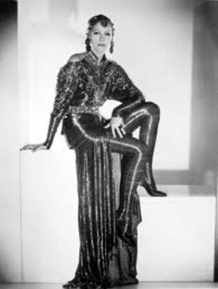 Greta garbo style dress