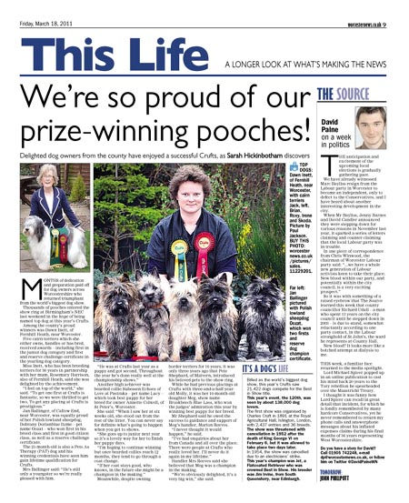 We're so proud of our prize-winning pooches!