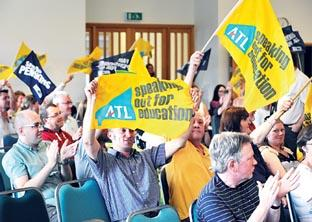 Worcester News: DEFIANT: Striking union members gathered at St Peter's Baptist Church (26305404)