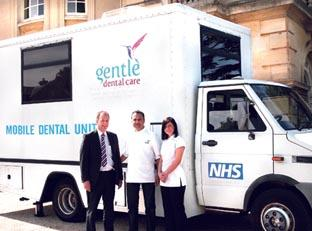 DENTIST ON THE ROAD: NHS Worcestershire commissioning manager Nigel Crew, dentist Dr Imran Wadee and dental nurse Keely Blundell