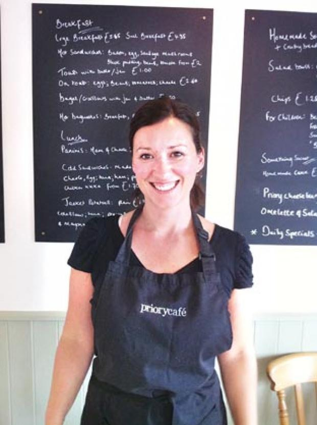 Faye Hanks, co-owner of the Priory Café near Bromsgrove, is keen to give a head start to someone.