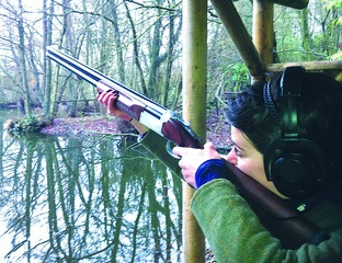 EYE ON THE TARGET: Caroline Lacks is a member of the Shotgun and Chelsea Bun Club.
