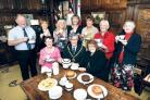 TEA FOR TEN: Mayor of Worcester, David Tibbutt, meets Swan Theatre charity auction winners Eileen Williams and Julie Bridge and guests (38362601)