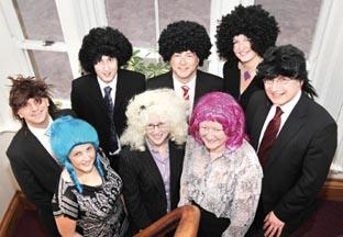 HAIRY HELPERS  Workers at Kendall Wadley s Malvern office each paid £5 to  wear a 647b3d9722ce