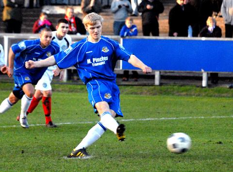 TIME TO PUSH ON: Following their first win of 2012 last Saturday, Tom Thorley has urged his Worcester City team-mates to resume their hunt for a play-off place with a busy few weeks of league fixtures coming up.