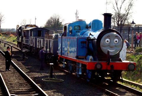 READY: Thomas the Tank Engine with the Fat Controller.