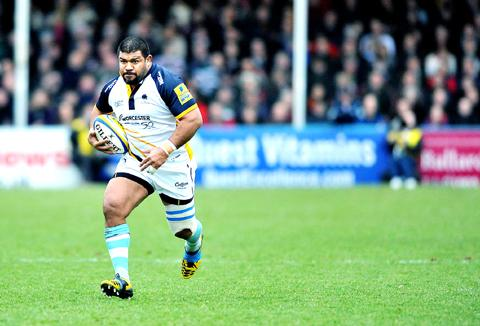 Home is where the heart is: Tongan hero Tevita Taumoepeau is delighted to remain at Sixways.
