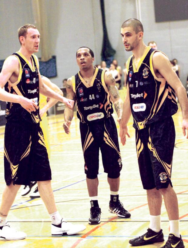 CAPTION: Wolves players plotting an eye-catching end to the season (left to right): David Watts, Sherrad Prezzie-Blue and Carlos Fernandez.