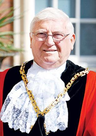 Mike Layland, pictured when he was the Mayor of Worcester