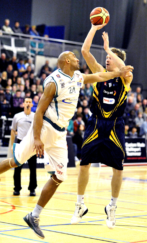 ON TARGET: Arnas Kazlauskas helped Worcester smash Plymouth but the BBL play-offs are now top of the agenda.