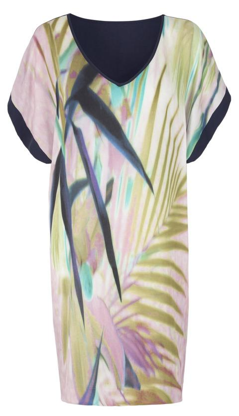 TROPICAL: Monsoon Palm Print T-shirt dress, £45 (0844 8110068/www.monsoon.co.uk).