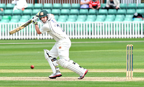 CRACKING START: Australian import Phil Hughes got his Worcestershire career under way with a century against Middlesex.