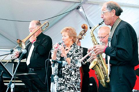 SWING THING: Flashback to last year's Upton event as Barbara And All That Jazz play.