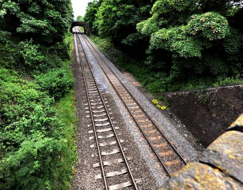 INCIDENT: The stretch of railway line near where the man's body was found (25065801)