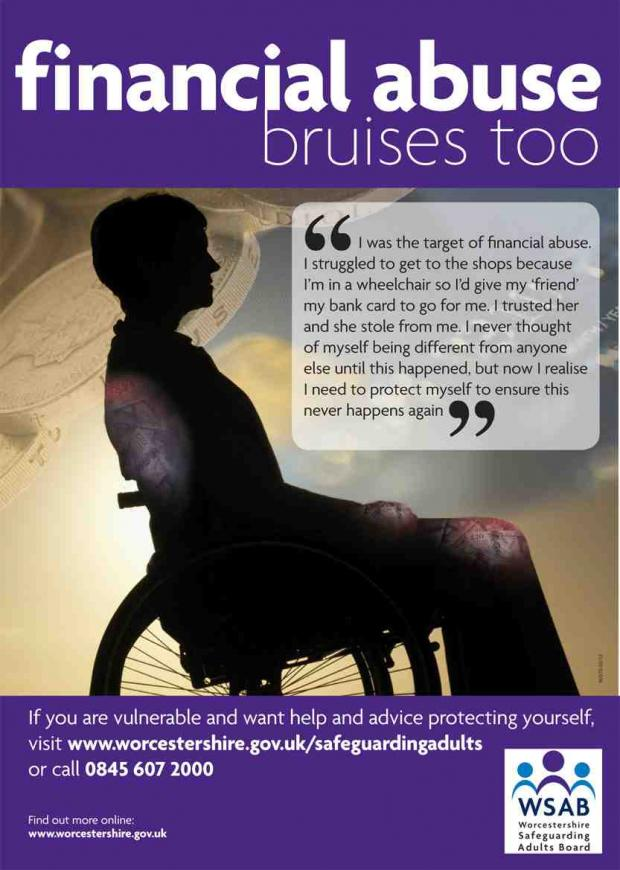 Financial abuse bruises too poster
