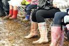 SQUELCH: Wellies of all colours were the order of the weekend 25069801.