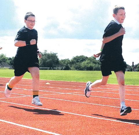 ON THE TRACK: Action from the inaugural Worcestershire School Games.