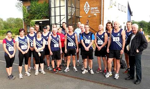 READY FOR THE OFF: Droitwich members prior to the Worcestershire Summer Mid-week Series race in Redditch.