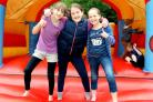 CELEBRATION: From left to right: Martha Wherry, Olivia Guise and Orianna Colthurst, all aged 10.