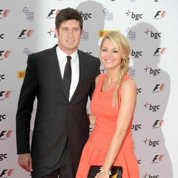 Worcester News: Vernon Kay and Tess Daly attended the F1 bash