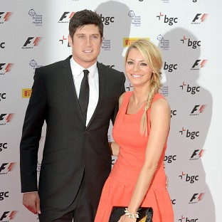 Vernon Kay and Tess Daly attended the F1 bash