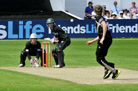 FIGHTING BACK: Daryl Mitchell fired 19 during Worcestershire's Friends Life t20 defeat to Somerset Sabres at New Road.