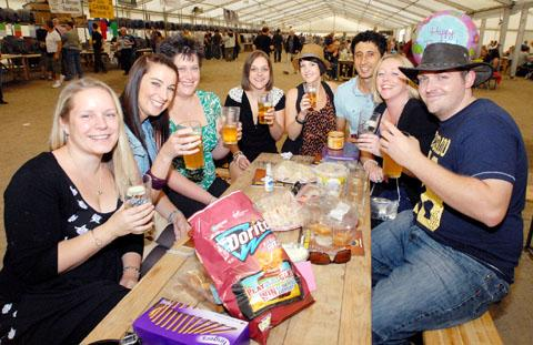 Festival-goers at last year's event had the chance to sample many different brews. 32338802