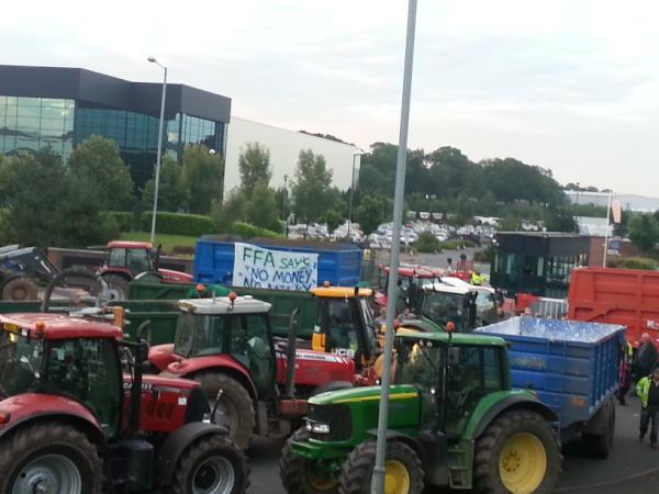 Milk protest hits Worcestershire