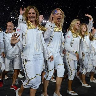A member of the Olympics opening ceremony cast took part in the athletes' parade