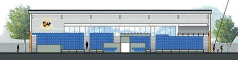 ARTIST'S IMPRESSION: The main stand of Worcester City Football Club's proposed new stadium