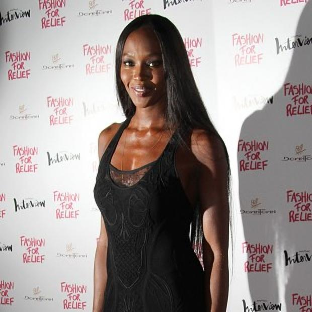 Naomi Campbell attended the Fashion For Relief dinner in London
