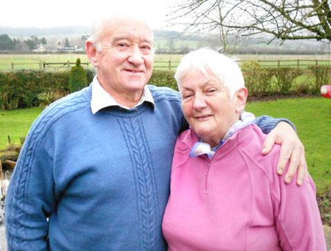 BACK ON BOARD: Derek and Viv Ebbage from Westmancote, who decided to get back on a cruise ship.