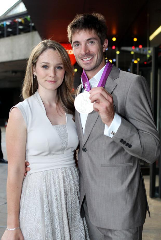 GOLD: Zac Purchase with his long-term girlfriend Fliss Hill. Photo by Press Association.