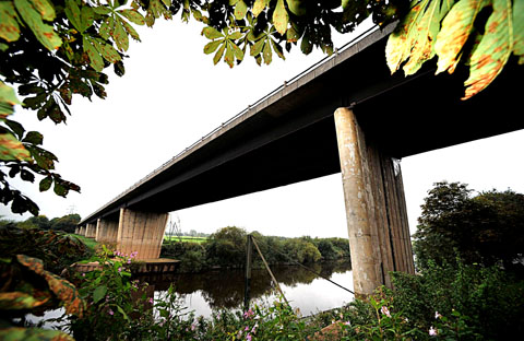 The A4440 Carrington Bridge, in Worcester