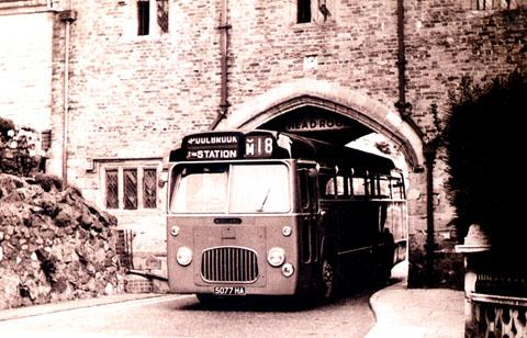 The Priory Gateway in days gone by when it was open to traffic.