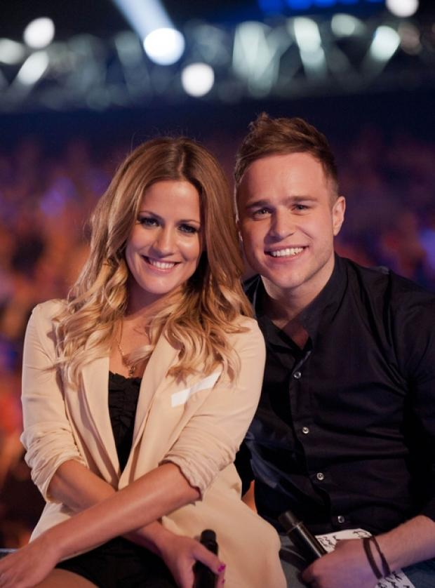 XTRA FACTOR: Olly Murs with co-presenter Caroline Flack
