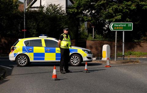 Road closed following accident