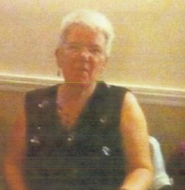 MISSING: Helen Fisher was reported missing from her home in Worcester last night.