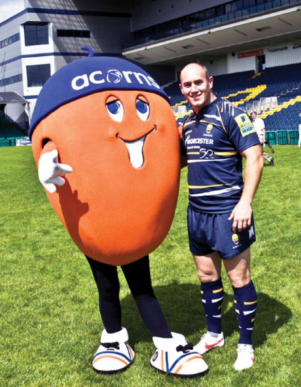 TRYING HARD: Shaun Perry and Alex the Acorn are all set to start raising money.