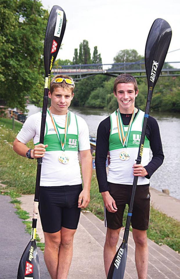 DYNAMIC DUO: Worcester national sprint medal winners William Bird and Simon Williams will be representing GB.