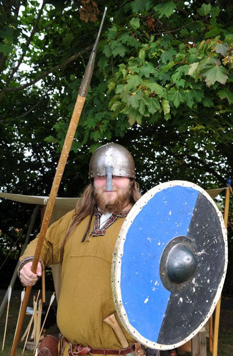 READY FOR ACTION: Viking warrior Hundr Starkison, aka Tim Madden, at the  annual Droitwich Salt Fest. 37131301