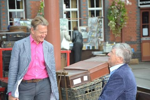 ON LINE: Former MP Michael Portillo at the Severn Valley Railway.