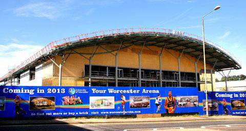 NEW HOME: Worcester Wolves hope to play their first British Basketball League clash in the city's brand new arena by next February.