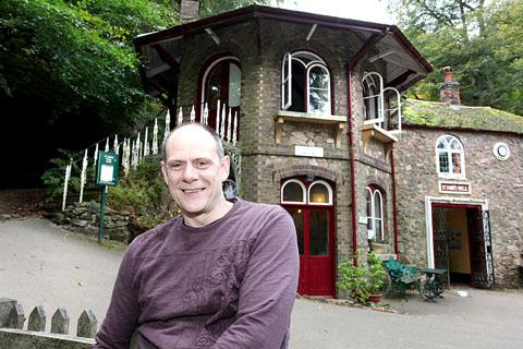 CONSERVATORS UNDER FIRE: John Redman and his cafe at St Ann's Well, Malvern.