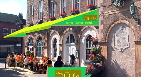 EUROPEAN STYLE: An artist's impression of the new cafe.