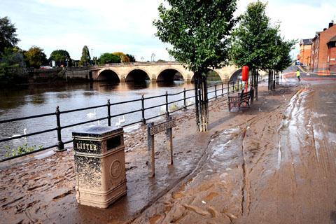 MESS: The flooded Severn has left a thick layer of silt in its wake (40142202)